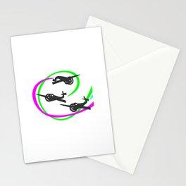 Aerobatic planes  Vivid Vapor trails Stationery Cards