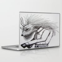 beastie boys Laptop & iPad Skins featuring beastie guy by Little Mama