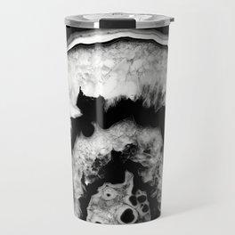 Gray Black White Agate #1 #gem #decor #art #society6 Travel Mug
