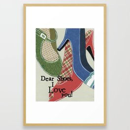 I Love You Shoes Framed Art Print