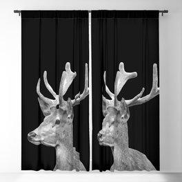 Deer Black Blackout Curtain