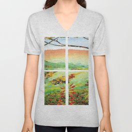 Window Pane Unisex V-Neck