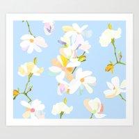 magnolia Art Prints featuring Magnolia by 301F