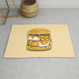Double Corgi Pounder Rug