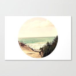 Where the sky and sea fell in love (without text) Canvas Print