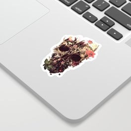 Bloom Skull Sticker