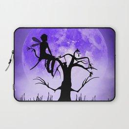 Moonlight Wondering Fairy - Purple Laptop Sleeve