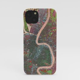 A Map of Vibrant New Orleans iPhone Case