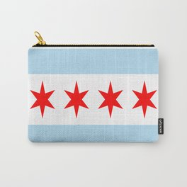 American cities-  Flag of  Chicago Carry-All Pouch