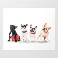 Woof? Art Print