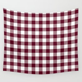 Gingham Bordeaux Wall Tapestry