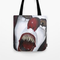 pennywise Tote Bags featuring Pennywise by Kristen Champion