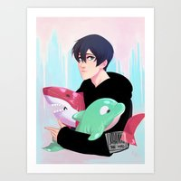johannathemad Art Prints featuring plushies by JohannaTheMad