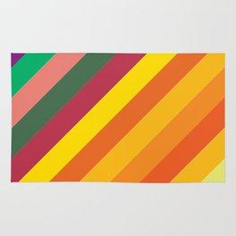 Retro Rainbow Lines Rug