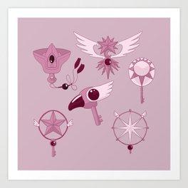 Cardcaptor Keys Art Print