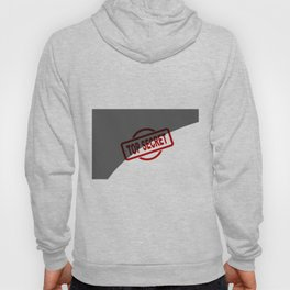Top Secret Half Covered Ink Stamp Hoody
