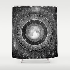 Major Tom (floating in my tin can, far above the Moon) Shower Curtain