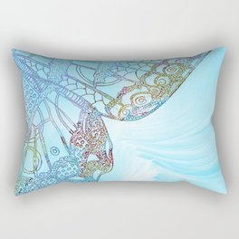 Colorful Abstract Butterfly Design Rectangular Pillow