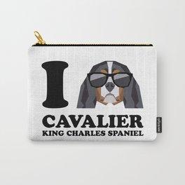 I Love Cavalier King Charles Spaniel modern v1 Carry-All Pouch