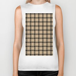 Tan Brown Weave Biker Tank