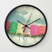 chinese Wall Clocks featuring Chinese Lanterns by Cassia Beck