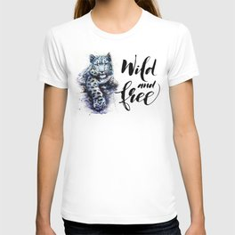 Snow leopard wild and free T-shirt