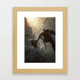On the North Harbor Approach Framed Art Print