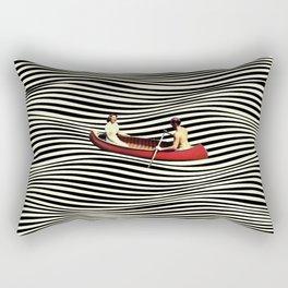 Illusionary Boat Ride Rectangular Pillow