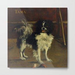 """Édouard Manet """"Tama, the Japanese Dog"""" Metal Print"""