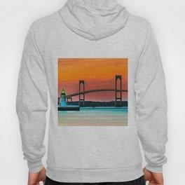 Newport Bridge - Newport, Rhode Island - Conanicut Island Sunset Hoody