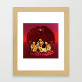 #Christmas Angels Framed Art Print