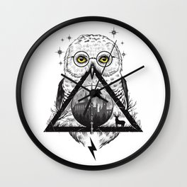 Owls and Wizardry Wall Clock