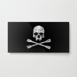 Jolly Roger Banner Metal Print