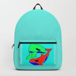 The glaring whales Backpack