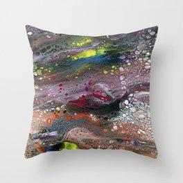 Indigo Flow Throw Pillow