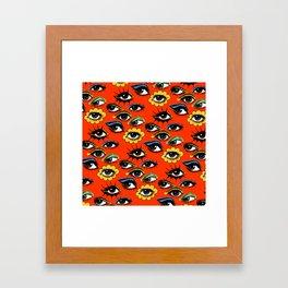 60s Eye Pattern Framed Art Print