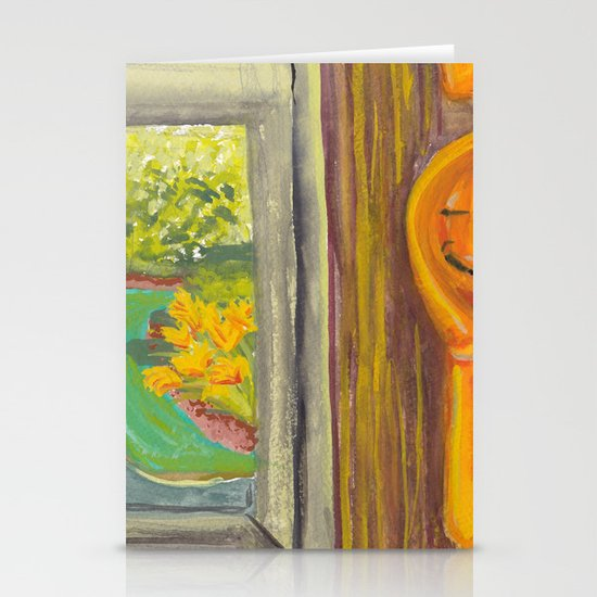 Kitchen Window with Happy Spoon Stationery Cards