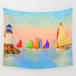 Rainbow Fleet Wall Tapestry
