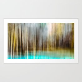 Abstract Lake and Forest Art Print