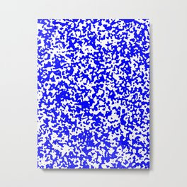 Small Spots - White and Blue Metal Print