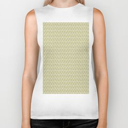 Abstract geometric pastel green white gradient triangles Biker Tank