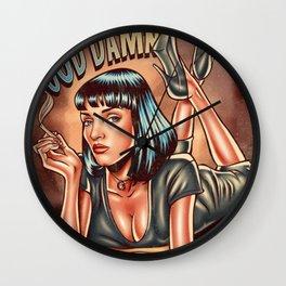 Mia Wallace - Pulp Fiction Wall Clock