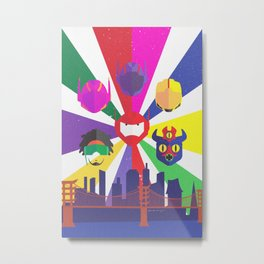 Big Hero 6 - Heroes of San Fransokyo Metal Print