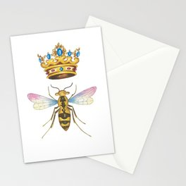 Watercolor Queen Bee, By Heidi Nickerson Stationery Cards