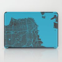 san francisco iPad Cases featuring San Francisco by Map Map Maps