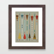 Vintage Arrows Framed Art Print