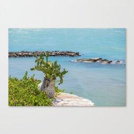 View of the sea at Vieste, Puglia, Italy Canvas Print