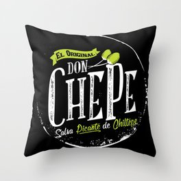 Don Chepe Throw Pillow