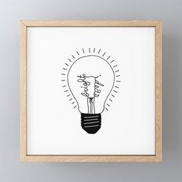 Bright Ideas Light Bulb Design Framed Mini Art Print