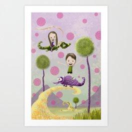 Pink Bubbles Art Print